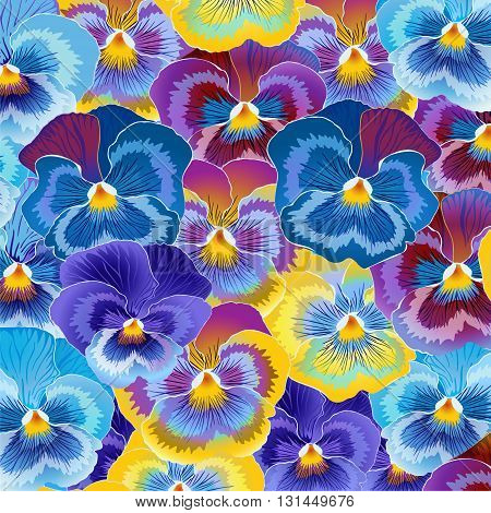 floral background of different colors of violets