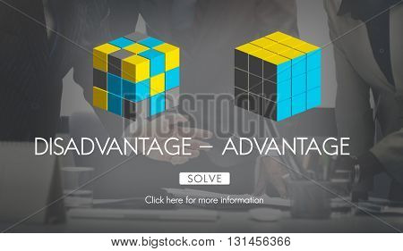 Disadvantage Advantage Comparison Decision Concept
