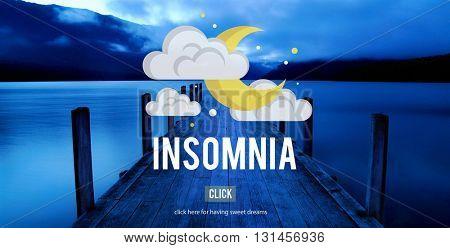 Sleep Apnea Insomnia Sleep Deprivations Disorders Sleepless Concept