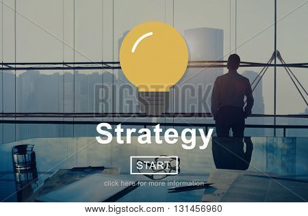 Strategy Solution Planning Business Success Target Concept