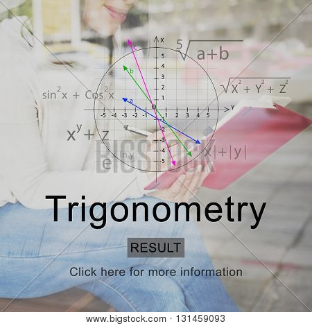 Trigonometry Calculate Analysis Education Concept