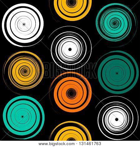 Cute Vector Geometric Seamless Pattern. Brush Strokes, Swirl. Hand Drawn Grunge Texture. Abstract Fo