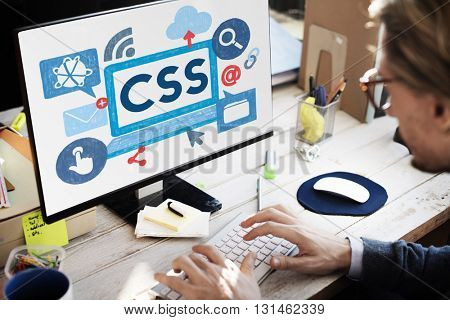 CSS Program Web Development Technology Concept