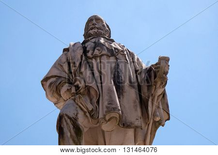 LUCCA, ITALY - JUNE 06, 2015: Giuseppe Garibaldi statue by Urbano Lucchesi in Lucca, Italy, on June 06, 2015