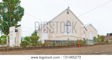 JANSENVILLE SOUTH AFRICA - MARCH 7 2016: The Methodist Church in Jansenville a small town in the heart of the mohair industry of the Eastern Cape Karoo region