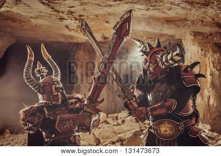 Battle Of Powerful Knights In Heavy Armor