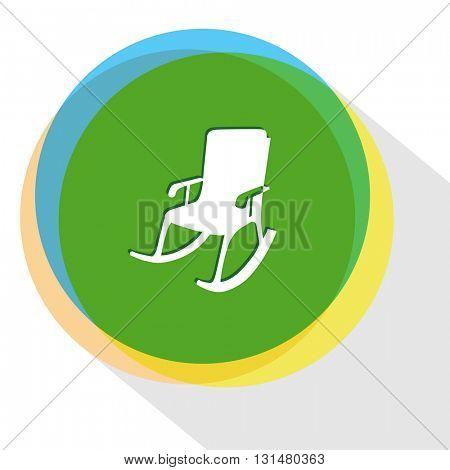 armchair. Internet template. Vector icon.