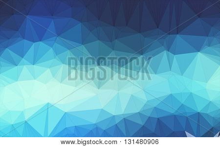Low poly background design in geometric pattern. polygon wallpaper in origami style. polygonal texture illustration in color  dark and light blue.