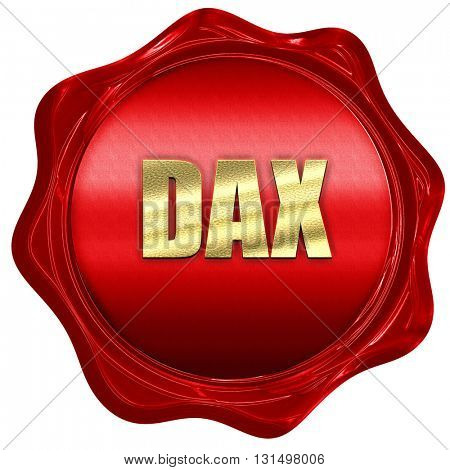Dax, 3D rendering, a red wax seal