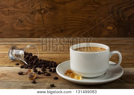 Morning coffee concept on rustic background. Coffee cup. Coffee mug. Morning coffee. Coffee break. Strong coffee. Cup of coffee.