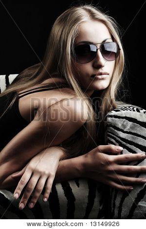 Portrait of a beautiful sexual female model. Beauty, fashion.