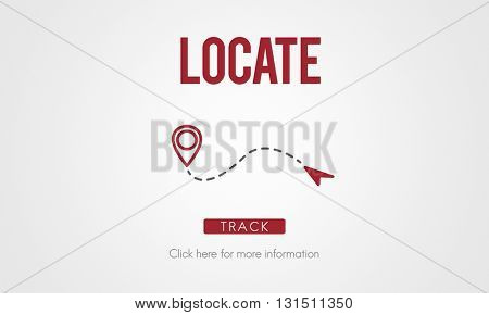 Locate Location Direction Destination Position Concept
