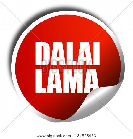 the Dalai lama, 3D rendering, a red shiny sticker