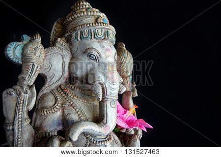 Ganesha statue at the entrance of a luxury spa