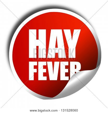 hayfever, 3D rendering, a red shiny sticker