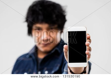 Man Showing Smartphone Screen To You