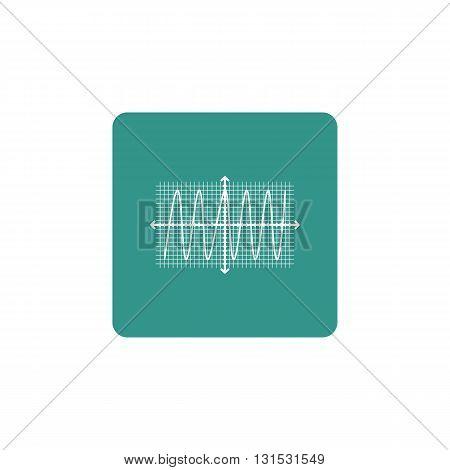 Cosine Icon In Vector Format. Premium Quality Cosine Symbol. Web Graphic Cosine Sign On Green Backgr