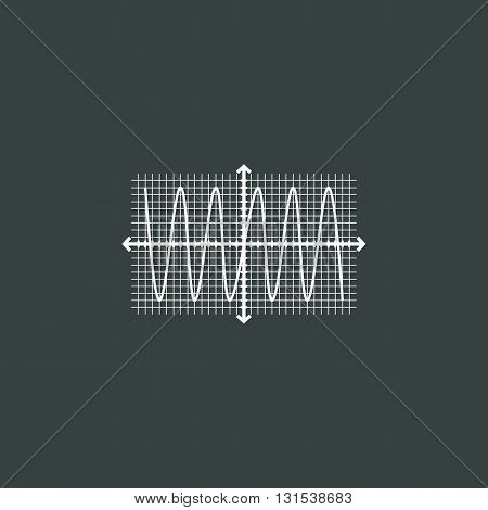 Sinusoid Icon In Vector Format. Premium Quality Sinusoid Symbol. Web Graphic Sinusoid Sign On Dark B