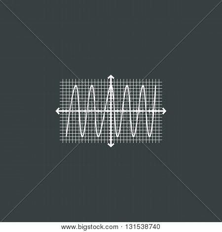 Cosine Icon In Vector Format. Premium Quality Cosine Symbol. Web Graphic Cosine Sign On Dark Backgro