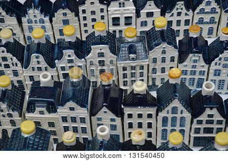 White Klm Pottery Canal Houses