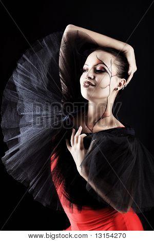 Shot of an expressive ballet dancer.
