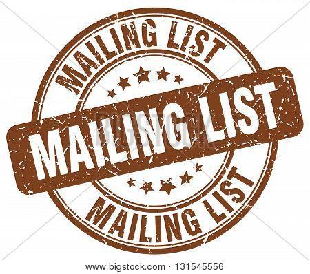 mailing list brown grunge round vintage rubber stamp.mailing list stamp.mailing list round stamp.mailing list grunge stamp.mailing list.mailing list vintage stamp.