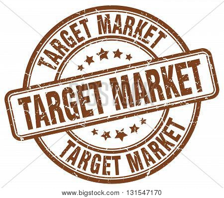 Target Market Brown Grunge Round Vintage Rubber Stamp.target Market Stamp.target Market Round Stamp.