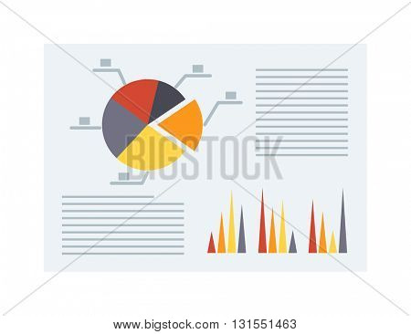 Business report vector illustration.