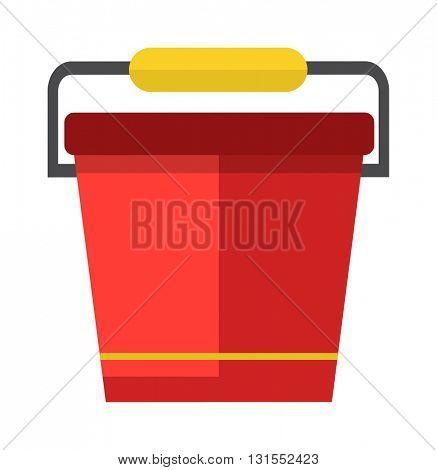 Water bucket vector illustration.