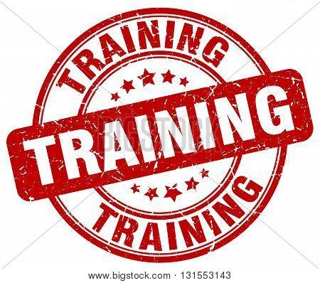 Training Red Grunge Round Vintage Rubber Stamp.training Stamp.training Round Stamp.training Grunge S