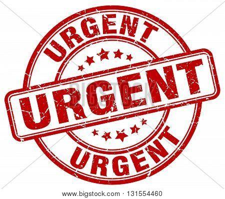 Urgent Red Grunge Round Vintage Rubber Stamp.urgent Stamp.urgent Round Stamp.urgent Grunge Stamp.urg