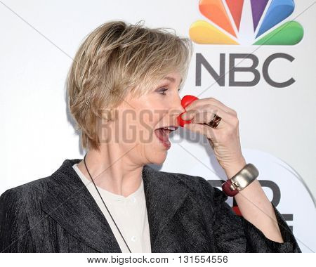 LOS ANGELES - MAY 26:  Jane Lynch at the Red Nose Day 2016 Special at Universal Studios on May 26, 2016 in Los Angeles, CA