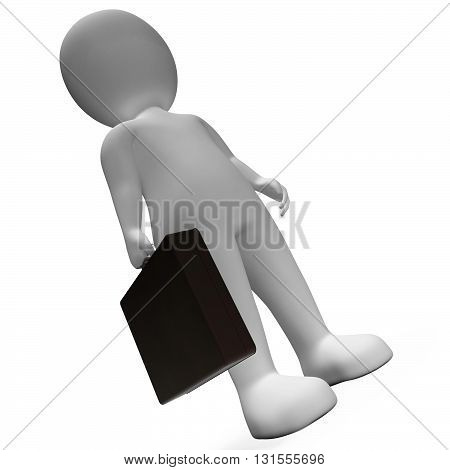 Standing Businessman Means Stood Stands And Executive 3D Rendering