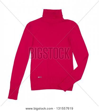 red jacket isolated on white background
