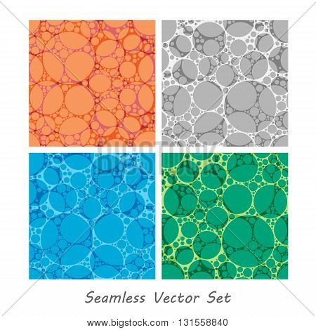 Vector seamless dots patterns. Elements for your design.Textured vector patterns. Eps10
