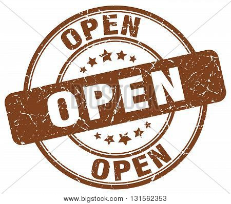 open brown grunge round vintage rubber stamp.open stamp.open round stamp.open grunge stamp.open.open vintage stamp.