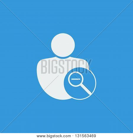 User Zoom Out Icon In Vector Format. Premium Quality User Zoom Out Symbol. Web Graphic User Zoom Out