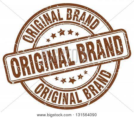 original brand brown grunge round vintage rubber stamp.original brand stamp.original brand round stamp.original brand grunge stamp.original brand.original brand vintage stamp.