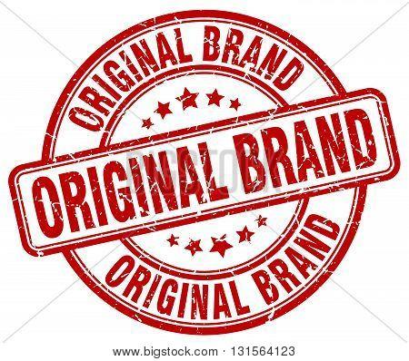 original brand red grunge round vintage rubber stamp.original brand stamp.original brand round stamp.original brand grunge stamp.original brand.original brand vintage stamp.