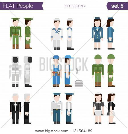 Flat style design people vector icon professions