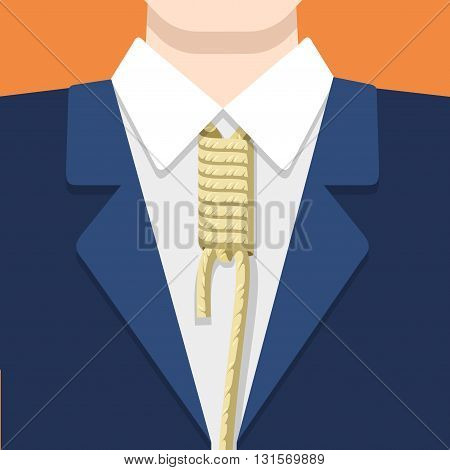 Business concept vector flat style illustration rope tie