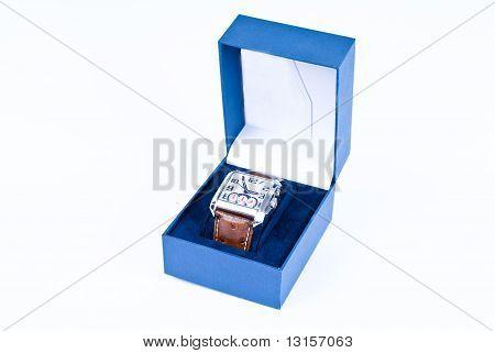 Watch in blue box