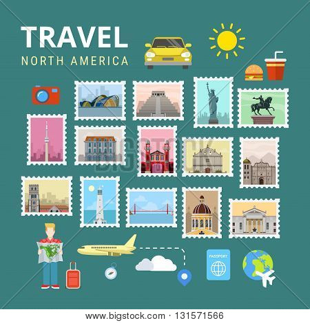 Travel South America Latin American Maya Brazil vector tourism