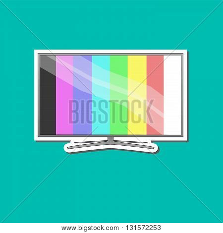 Modern Tv with blue background for online business