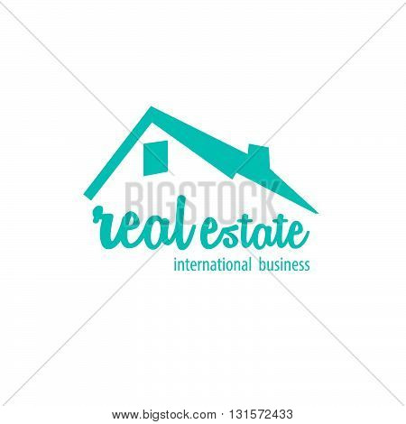 Blue sketch real estate house for business