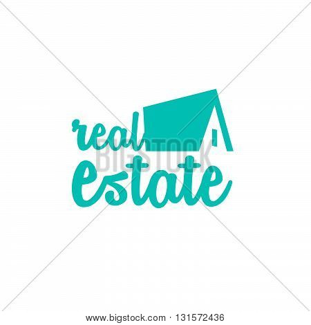 Blue real estate house map for business