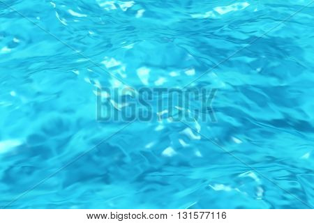 Blue Water In Swimming Pool Background Closeup