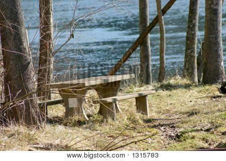 Empty Picnic Table