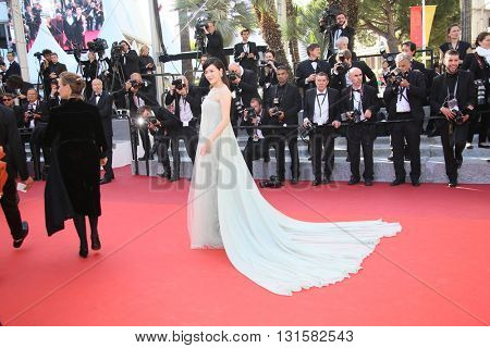 CANNES, FRANCE - MAY 19: Ly Nha Kyser attends the 'Graduation (Bacalaureat)' Premiere during the 69th annual Cannes Film Festival at the Palais des Festivals on May 19, 2016 in Cannes, France.