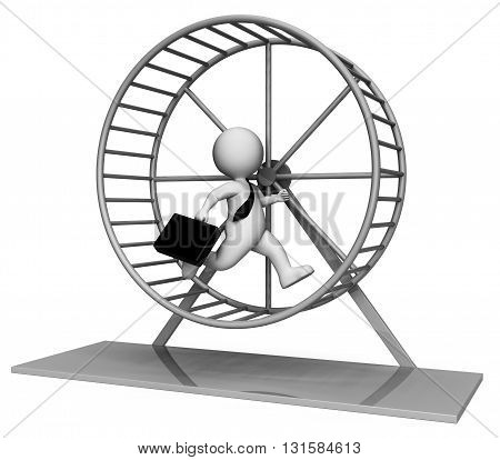Hamster Wheel Shows Mind Numbing And Boring 3D Rendering
